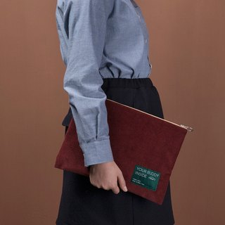 ntmy. Large water heavy corduroy Clutch