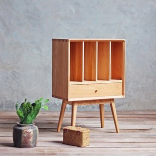 Lushan Workshop - Walnut/Cherrywood - Solid Wood Bookcase, Magazine Cabinet, Side Cabinet, Nightstand