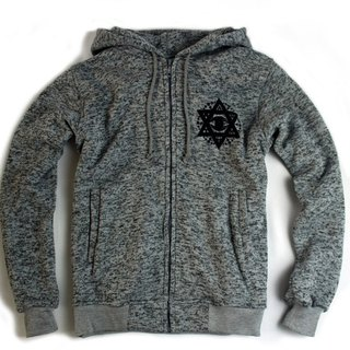 Arturn Hexagram Eye Hoodie tragic hexagram cap jacket / Heather Grey