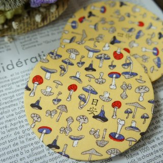 Mushrooms Nissan cloth coaster / 1case 5