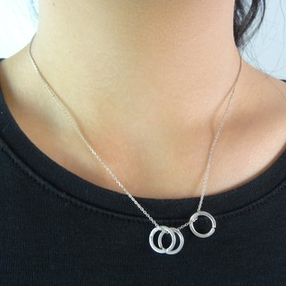 Short-chain item pendant sterling silver circle silver pendant