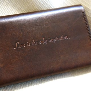 Leather business card holder - bilateral