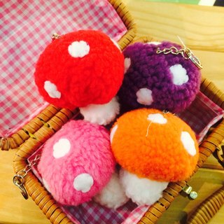 RABBIT LULU. Color mobile phone strap key ring mushrooms