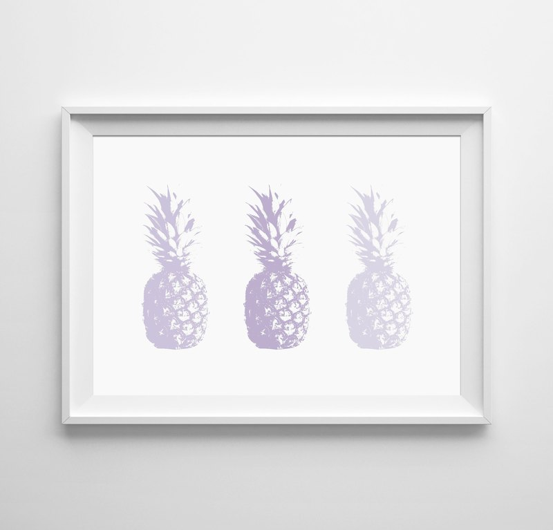 Pineapple Purple Customizable Hanging Poster