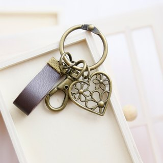 Flower love genuine leather strap