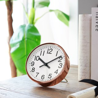 Classic - rose gold clock 2 in 1 (metal)