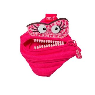 (5 fold out of clearance) -Zipit Talking dialogue monster zipper bag - (small) peach
