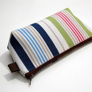 Casual-life hand-made striped cosmetic bag / Pencil