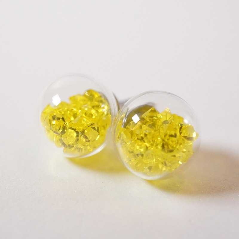 A Handmade 黃色水晶玻璃球頸鏈