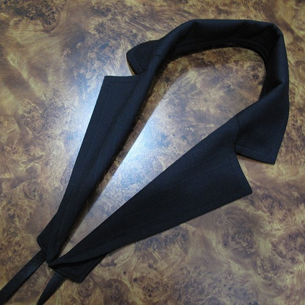Suit collar styling camera strap (black)
