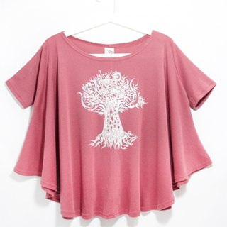 Feel natural drape round pendulum travel T / blouses - Thailand crazy tree
