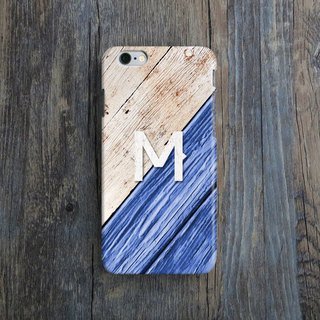 Personalized, Letter, Wooden Paint, - Designer iPhone Case. Pattern iPhone Case. One Little Forest