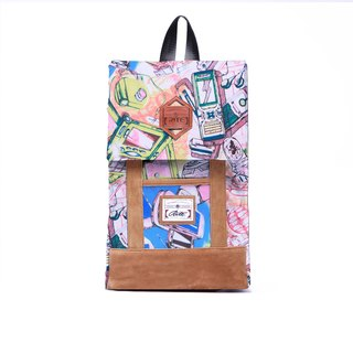 RITE | green paper bag - colorful world | after the original removable backpack