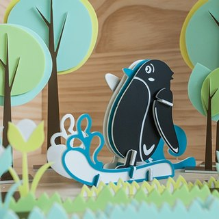 [Puzzle puzzle] cute animal series / / surfing penguins