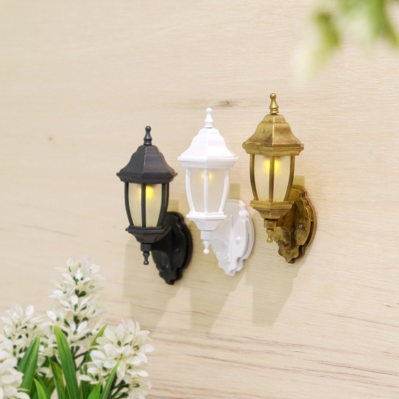 Hook the happiness combination - mini wall light hook group (fashion black + pearl white + classical gold)