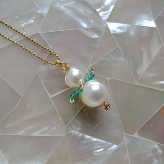 ∴Minertés = snowman - pearl green jade necklace ∴ ‧