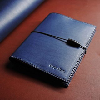 【MUJI A6 page 80 VULCAN Note】 Italian A grade thin wax vegetable tanned leather notebook can be optional multi-color stamping services can be made without a band