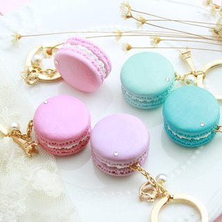 Shine ~ new version of rhinestone micro pearl light macarons key ring wedding small things / customized