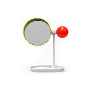 Ball Tabletop Mirror (red/yellow/white)