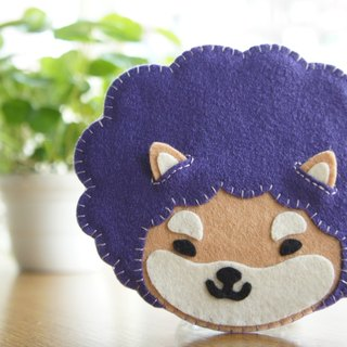 Mangogir healing head, small Shiba Inu hand made coaster