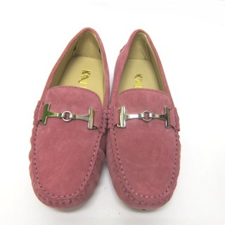 Fort Tony Wang handmade leather shoes (female) [metal buckle / scrub / bean bottom / Rose]