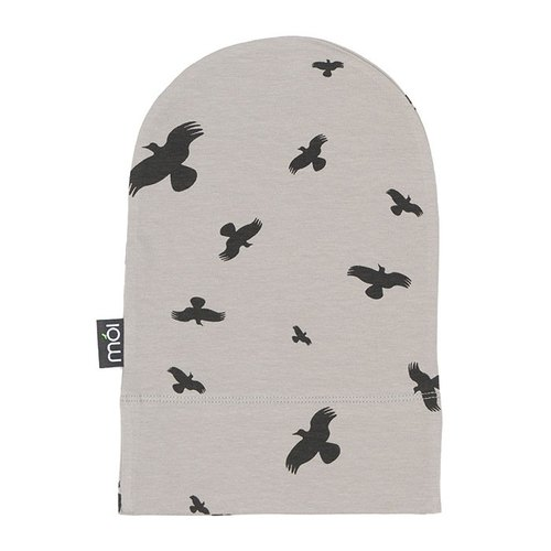 [Design] mói Nordic organic cotton cap gray duck crossing Birdy Hat ha2 Grey Raven