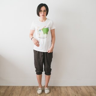 Classic white short-sleeved T-shirt _ true happiness (Female M without inventory)