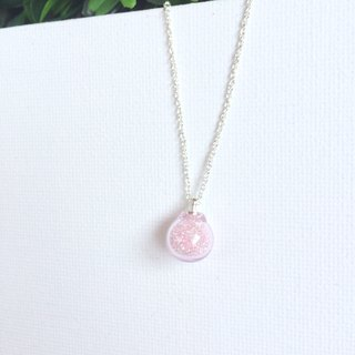 *Haku‧Neko*pink glass beads necklace