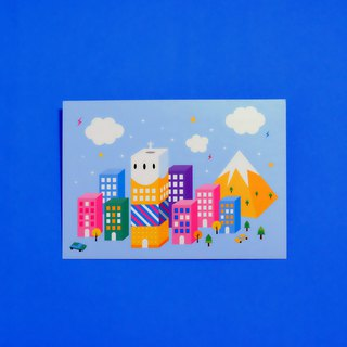 Happy city postcard