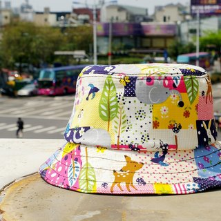 Hat colorful spring-sided