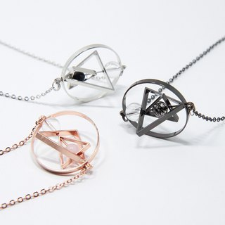Floating Universe Necklace (Triangle in Circle)