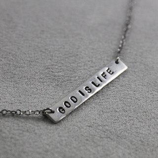 Valentine's Day gift Ohappy customized typing series. Blessing text sterling silver stainless steel necklace