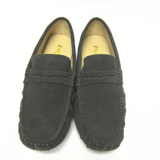 Fort Tony Wang handmade leather shoes (M) [frosted cow / bean bottom / dark green]
