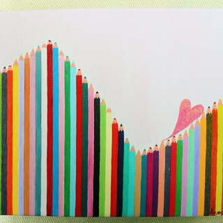 Life are filled with ups and downs-The replica of original painting