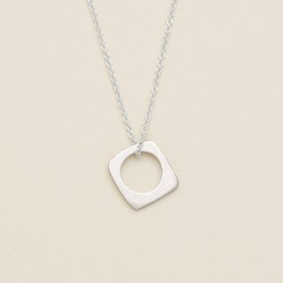 Geometry Square and Circle Necklace