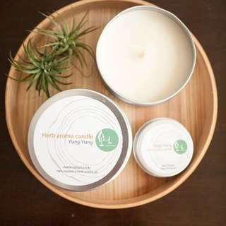 Ylang natural soy candles - natural soy tea light aluminum cans x x x Smoke - pure essential oils
