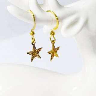 ❡ embossed Star Earrings