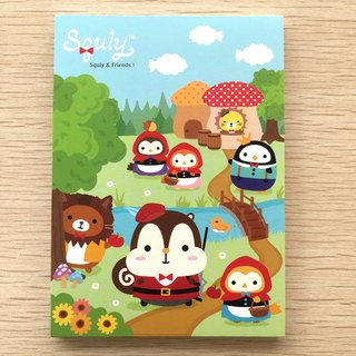 Squly & Friends Memo Pad (Little red riding hood) (D012SQS)