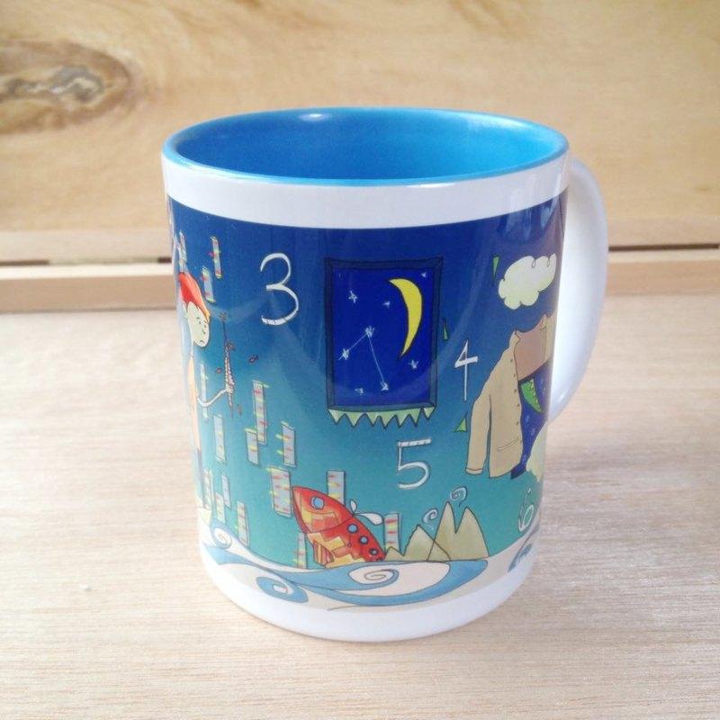 淺藍內彩馬克杯