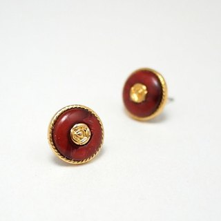 Circle dot Antique Stainless Steel Earrings Earrings 0329