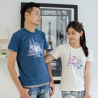 [World Travel Owl] Couples / Short Sleeve T-shirt / for lovers who like to travel