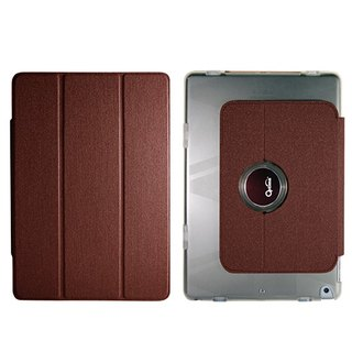 Optima iPad 2018/17 360 flat protective shell linen dark brown