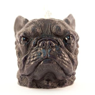 French Bulldog Candle - black