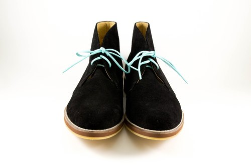 Lenny handmade shoes / black warrior desert boots / boys desert boots. Comfortable cover / breathable soft