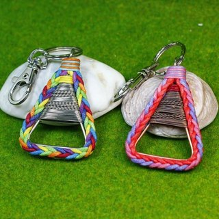 TvT / triangle braided rope key ring mobile phone strap