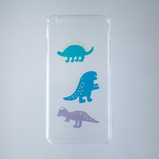 Tonight I hand - Stegosaurus Pachycephalosaurus and the Dragon and I invented / iphone5 / 5s / 6 (6s also applicable) / + 6/7/7 + phone shell (transparent hard shell)