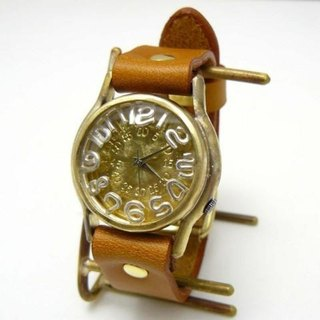 "Handmade watch HandCraftWatch ""On Time3-B"" SV index [# 355]"