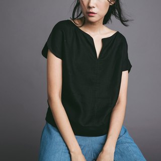 Linen blouse - black