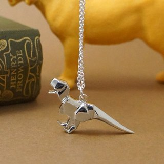 GT Tyrannosaurus sterling silver necklace