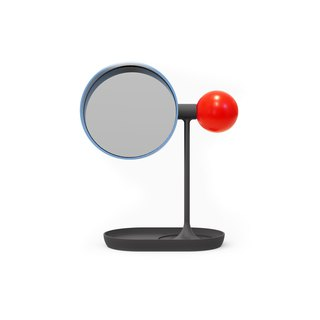 Ball Tabletop Mirror (Red/blue/black)
